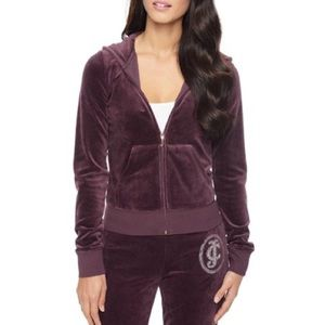 Juicy Couture Plum Wine Velour Tracksuit Jacket
